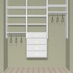 "72"" closet cost  approx.  $399 installed cost for KIT  approx.   $320. + tax Drawers are an additional $90. each"